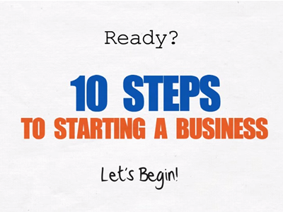 Motivational Monday – 10 Steps to Starting a Business