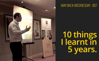 10 things I learn't in 5 years.