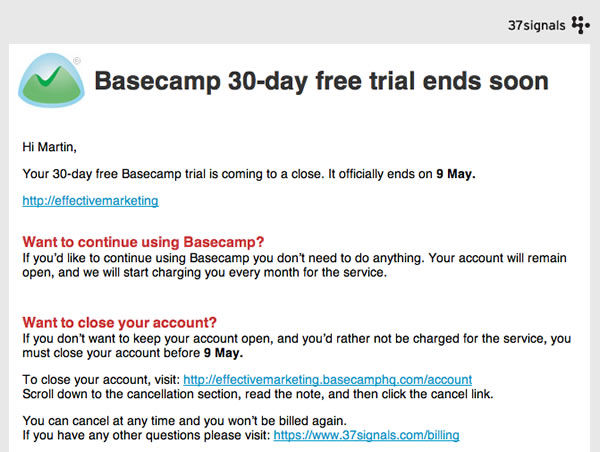 You absolutely have to love Basecamp and 37 Signals