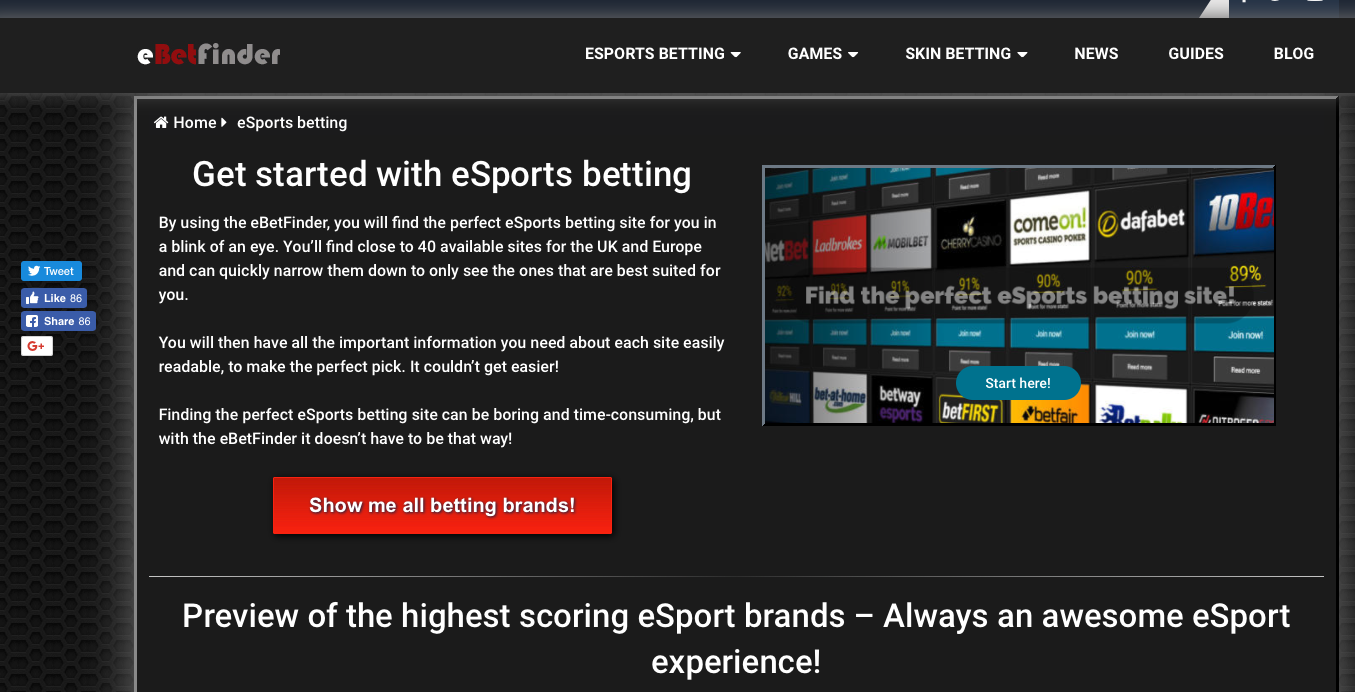 How we made eBetFinder a popular eSports betting platform
